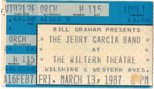 Jerry Garcia Band - Los Angelas, CA (03/13/87)