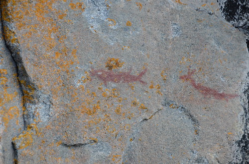 Lake Superior Park pictographs 1