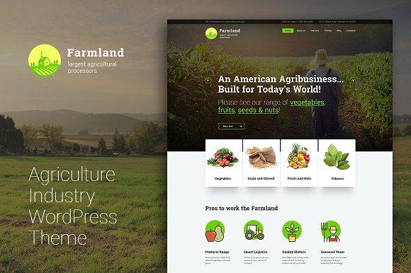 Farmland v1.0.0 – Agriculture Farming WordPress Theme