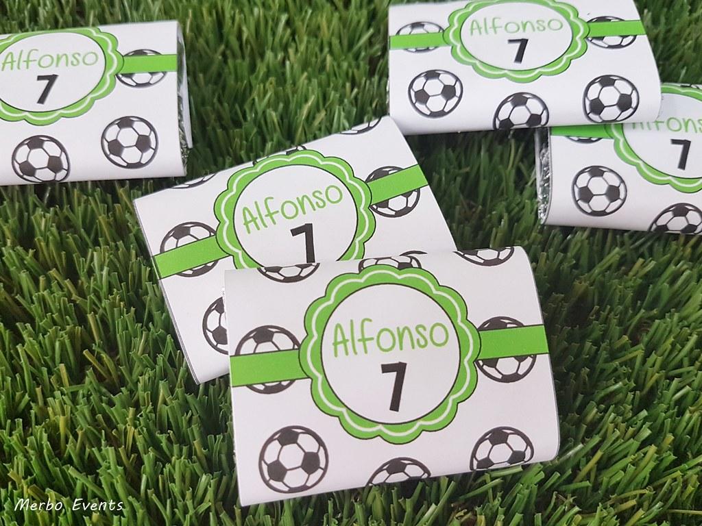chocolatinas personalizadas fiesta cumpleaños futbol Merbo Events