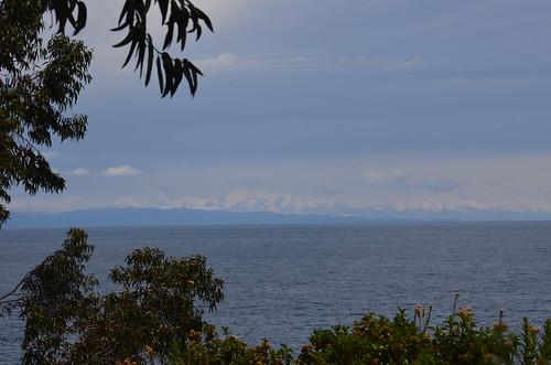 Blick zu den Bergketten Boliviens