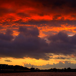 Fire in the sky over Preston Docks