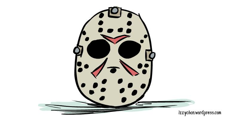 jason mask drawlloween friday the 13th