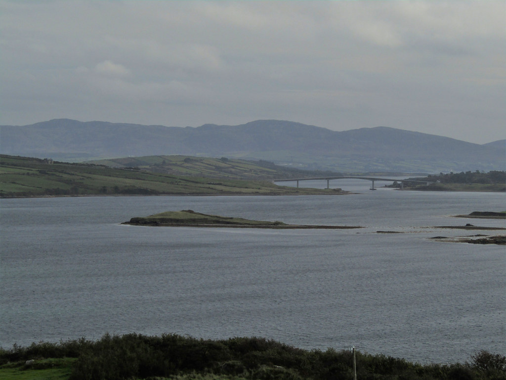 Looking over Mulroy bay to  the Harry Blaney bridge