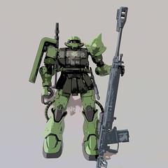 【模型】 #ザクII MS-06Cを組み立てました #ガンプラ