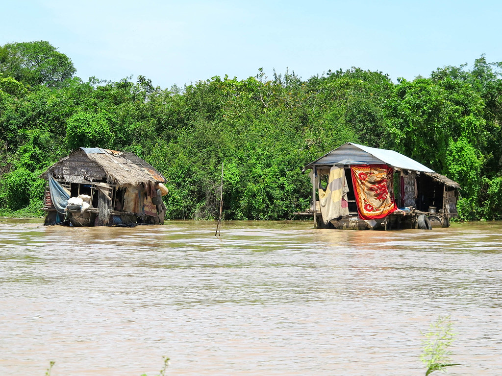 Lago cerca de Siem Reap