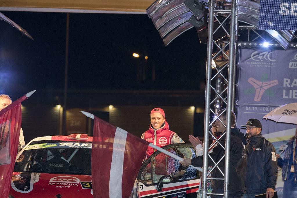 31 Sesks Mārtiņš and Mālnieks Andris, LMT Autosporta Akadēmija, Peugeot 208 R2 ERC Junior U27 action during the 2017 European Rally Championship ERC Liepaja rally,  from october 6 to 8, at Liepaja, Lettonie - Photo Gregory Lenormand / DPPI