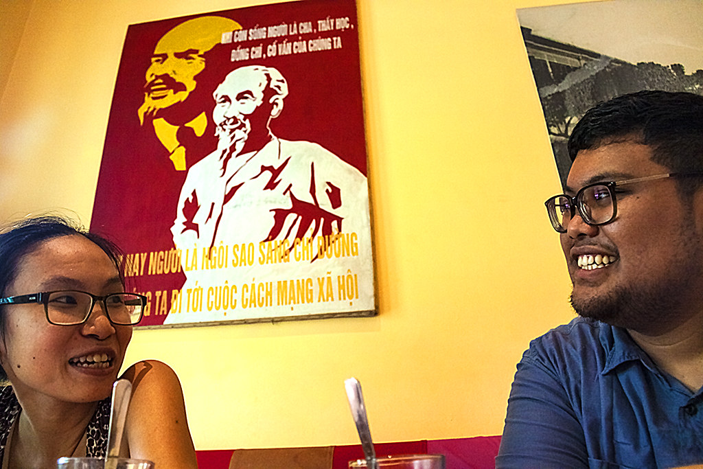 Nha Thuyen, Lenin, Ho and Norman Erikson Nasaribu--Hanoi
