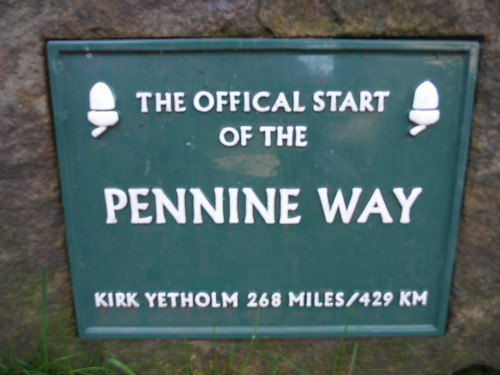 Official Start of the Pennine Way, Edale