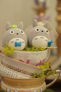 Lovely Totoro Mochiegg Custom Cake Topper Japanese Charac Flickr