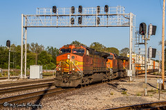 BNSF 5455 | GE C44-9W | BNSF Thayer South Subdivision