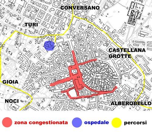 mappa ospedale putignano - Ph G. Laera