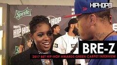 """BRE-Z Talks Her Upcoming Album, BET's """"TALES"""", Unity with Female Artist in the Music Business & More on the 2017 BET Hip-Hop Awards Green Carpet (Video)"""