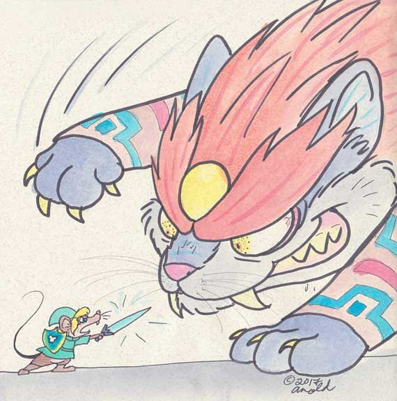 Day Twelve: Oh No, Cat Ganon!