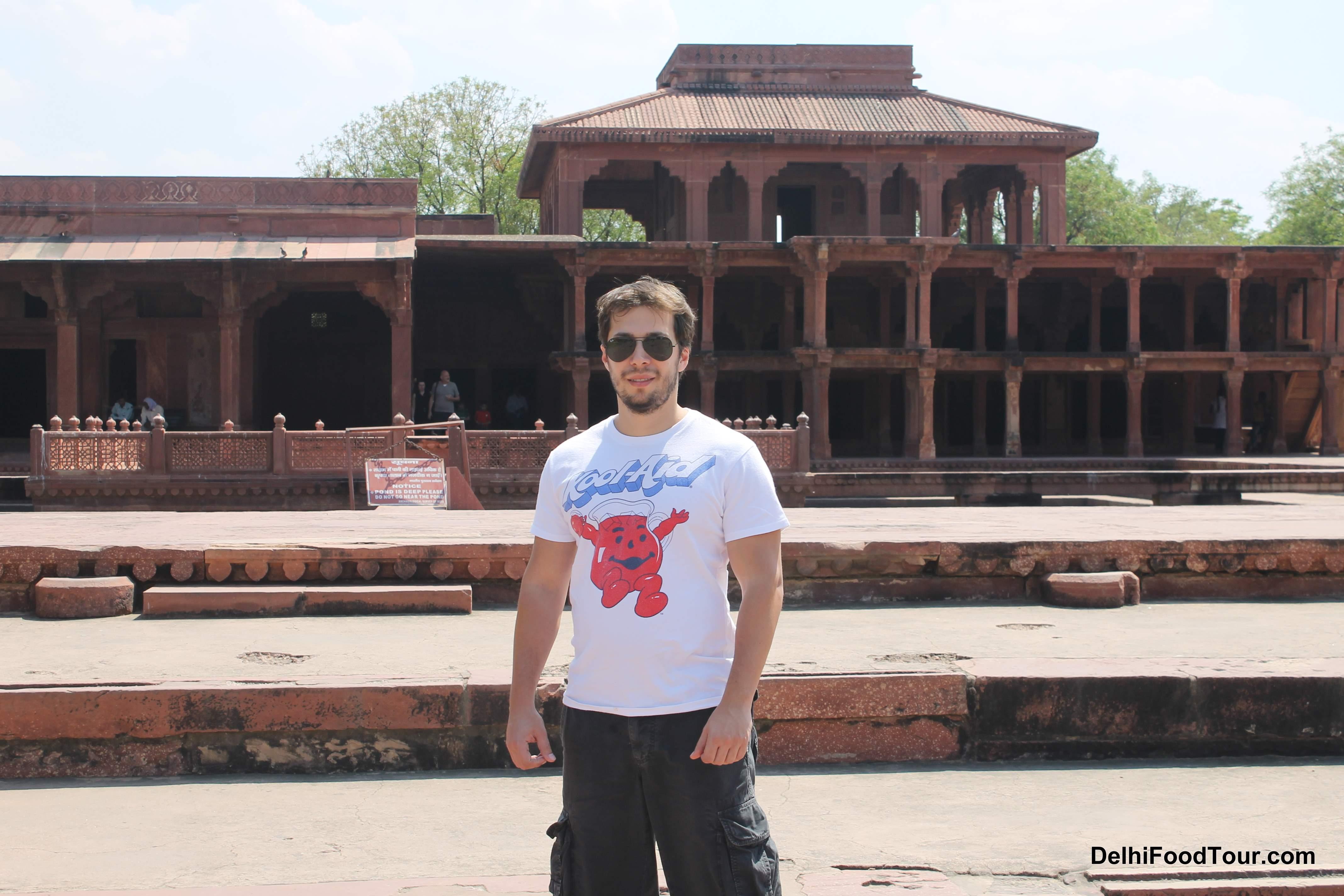 Posing in Fatehpur Sikri