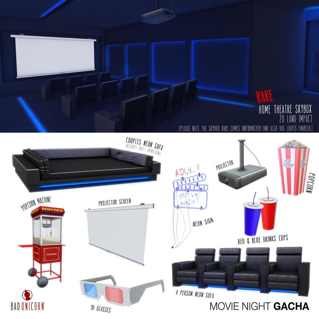 NEW! Movie Night Gacha @ Epiphany - TeleportHub.com Live!