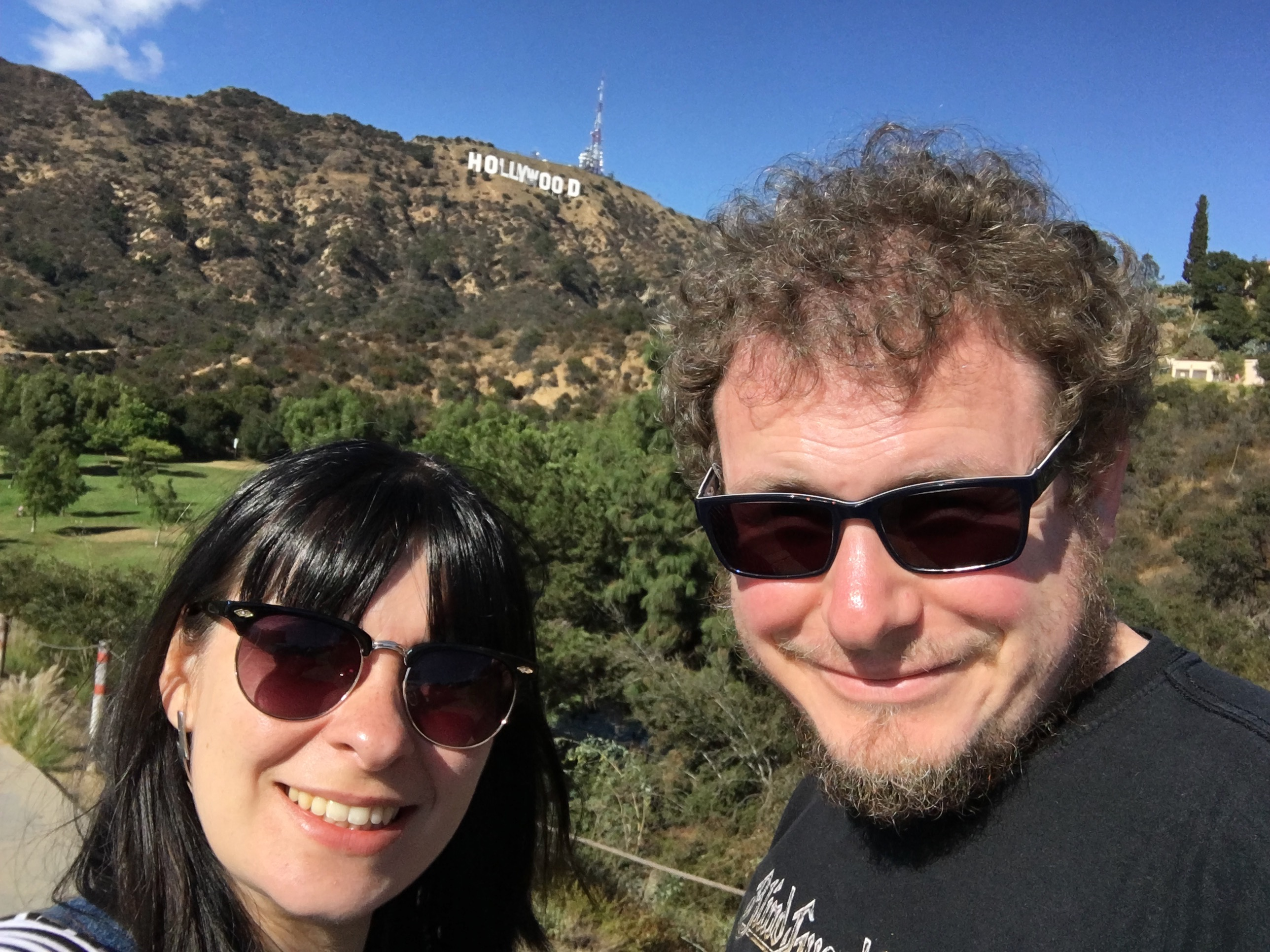 Los Angeles - diane and topher hollywood sign