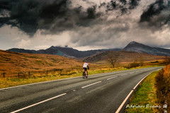 Winter Cyclist Snowdonia