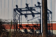 Shadows, vacant factory/warehouse, South Etobicoke, Toronto