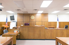 Bench, Courtroom, Jackson County Courthouse, Edna, Texas 1710191455