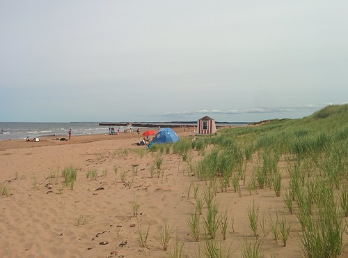 Looking east, North Rustico Beach #pei #princeedwardisland #northrustico #rustico #beach #gulfofstlawrence #latergram