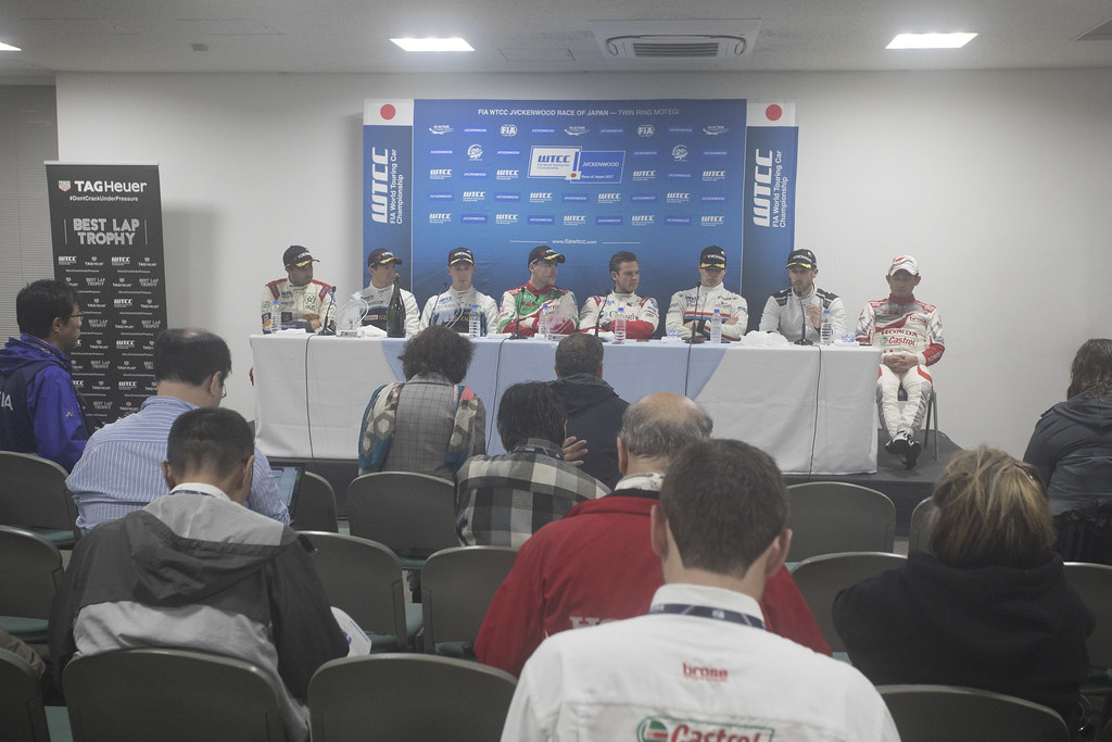 conference de presse press conference during the 2017 FIA WTCC World Touring Car Championship race at Motegi from october 27 to 29, Japan - Photo Gregory Lenormand / DPPI