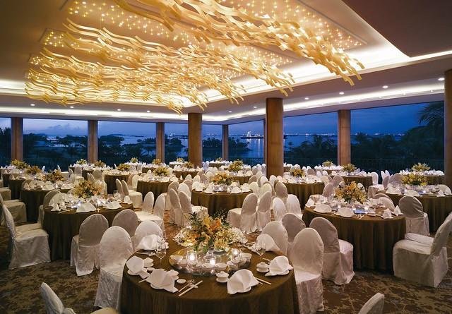 Horizon Pavilion - dinner setup