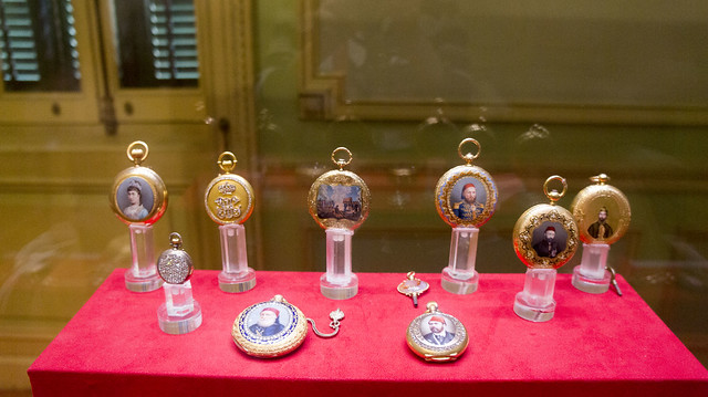 Golden pocket watches at Egypt's Royal Jewelry Museum