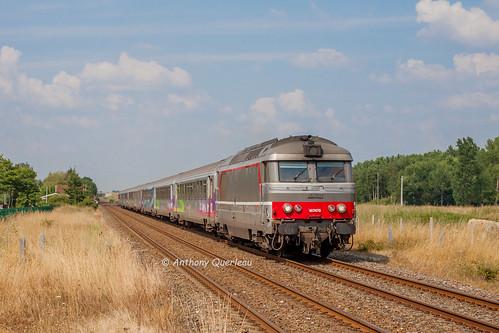 22 juillet 2013  BB 67475  Train 3835 Nantes -> Bordeaux Gauriaguet (33)