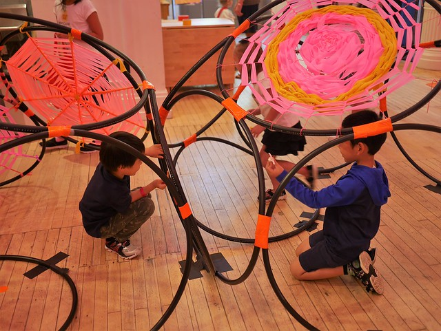 Playing in the web at the Children's Museum maker space