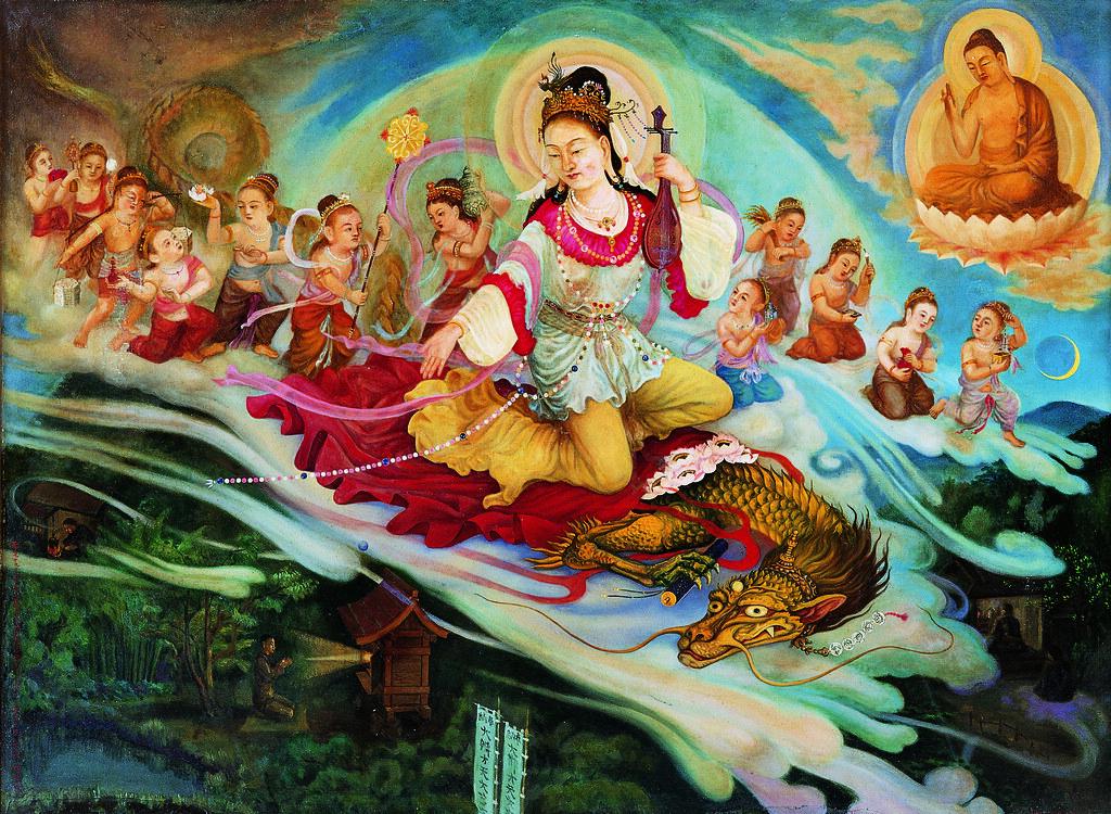 牧島如鳩《龍ヶ澤大辯才天像》(1951年、足利市立美術館寄託)