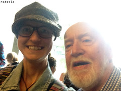 20150815_i4 Me & Jim Norton by the stage door of Barbican Theatre, where he played Polonius in ''Hamlet'' | London, England