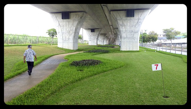 GOLF COURSE UNDER THE 506 FREEWAY in SOUTHERN OKINAWA
