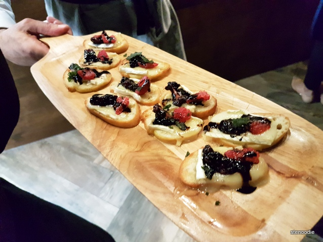 Brie, Baked, Mixed Berries, Crostini, Sage