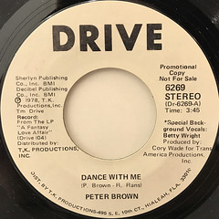 PETER BROWN:DANCE WITH ME(LABEL SIDE-A)