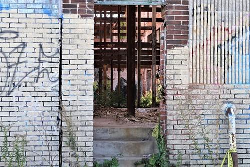 streetart urban urbanart hiphop graffiti decay urbandecay decayporn ruin ruinporn abandoned derelict shark mural sharkmural teeth sharkteeth art muralsinthemarket easternmarket detroit city girders danger michigan southeastmichigan jannagalski jannagal lines depth