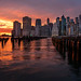 New York SunSet Luminar by photoserge.com