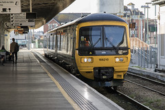 Class 166 Turbo DMU 166210 at Cardiff Central