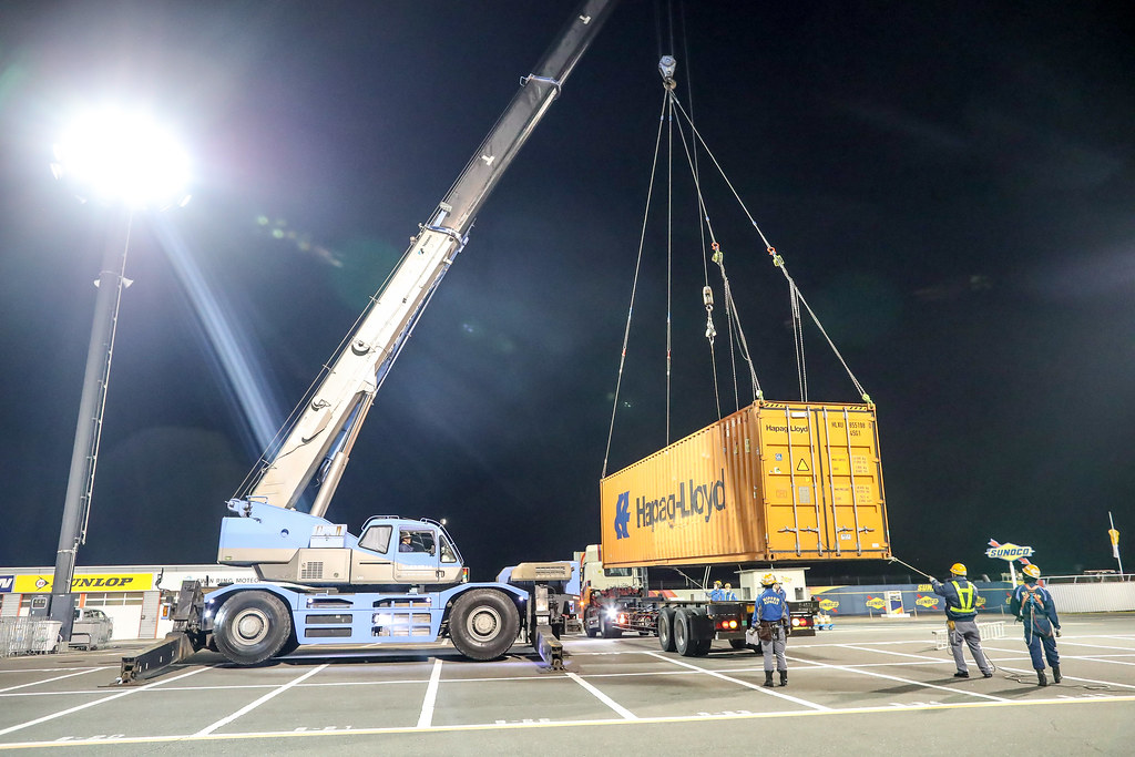 Containers arrival during the 2017 FIA WTCC World Touring Car Championship race at Motegi from october 27 to 29, Japan - Photo Alexandre Guillaumot / DPPI