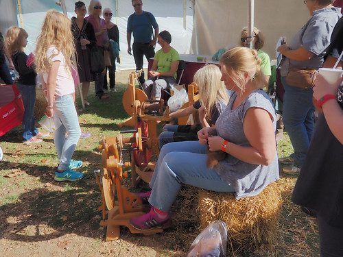 Spinning at Rhinebeck