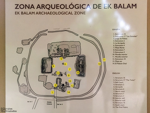 Ek Balam Mapa