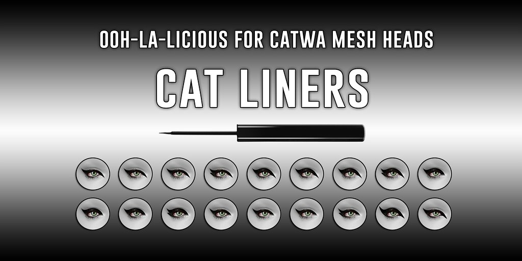 Ooh-la-licious® Catwa Cat Liners - The Makeover Room Exclusive! - TeleportHub.com Live!