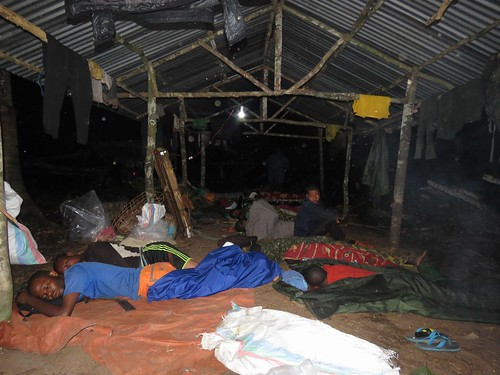 Shelter at Bemanje on a rainy night