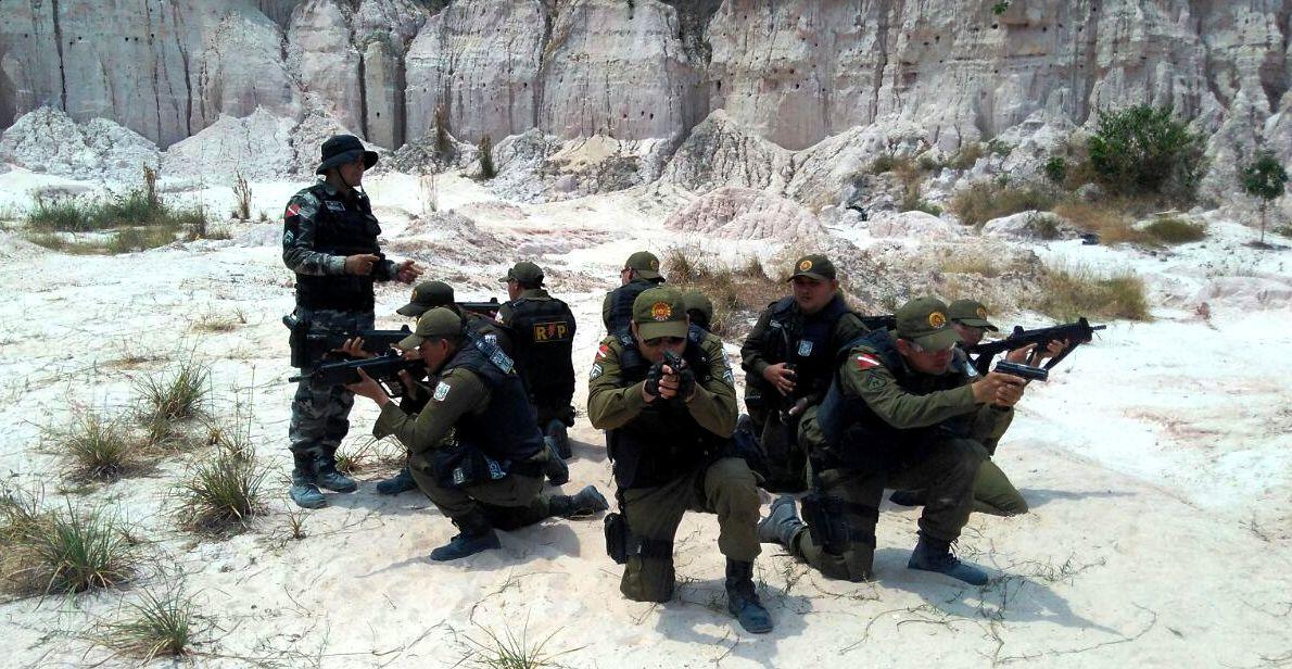 Batalhão da PM encerra curso com participação do comandante do CPR-I, PM - treinamento em Monte Alegre