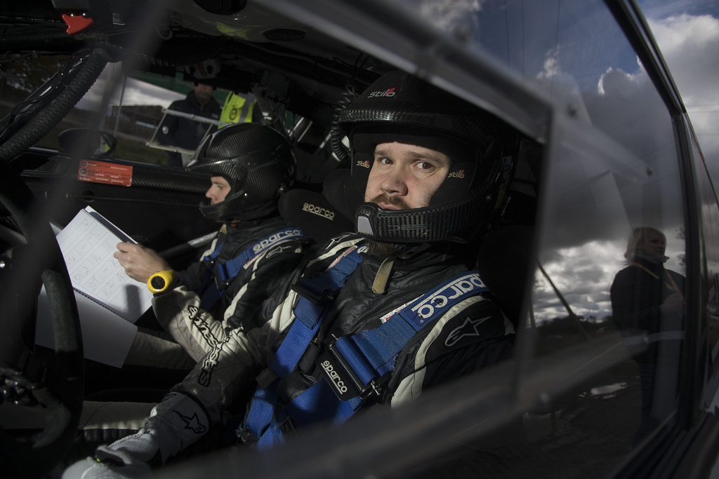 Berķis Jānis and Čeporjus Edgars, Neiksans Rally Sport, Ford Fiesta R5 ambiance portrait during the 2017 European Rally Championship ERC Liepaja rally,  from october 6 to 8, at Liepaja, Lettonie - Photo Gregory Lenormand / DPPI