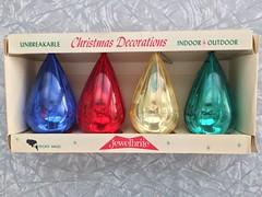 Vintage Jewelbrite Christmas ornaments