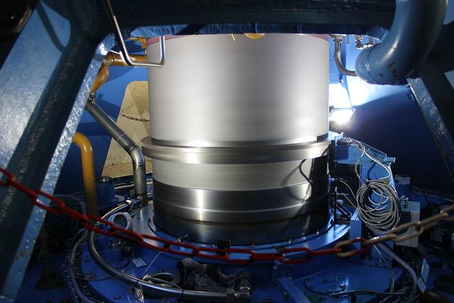 Rotierende Antriebswelle im Pumpspeicherkraftwerk Waldeck II