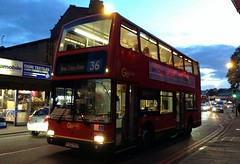 London Central PVL284 (PJ02 RCU) on route 36 at Peckham Library