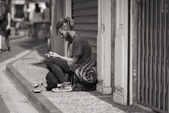 Smoking boy - Photo of Saint-Pargoire