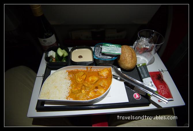 Kip met rijst (Turkish Airlines)